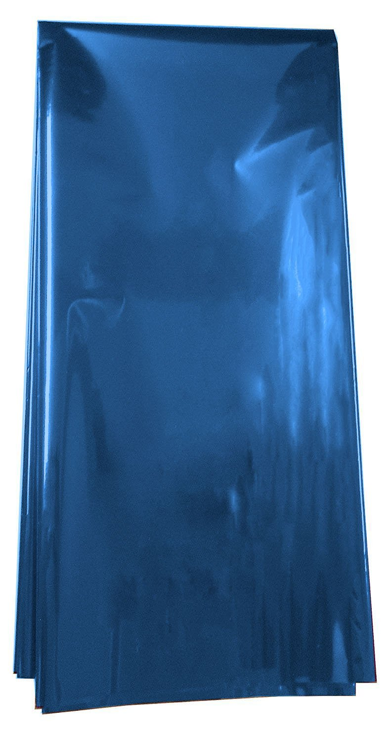 Colored Mylar Metallic Sheets 18 x 30 - 5 Sheets Each Pack (Blue Blue) Generic