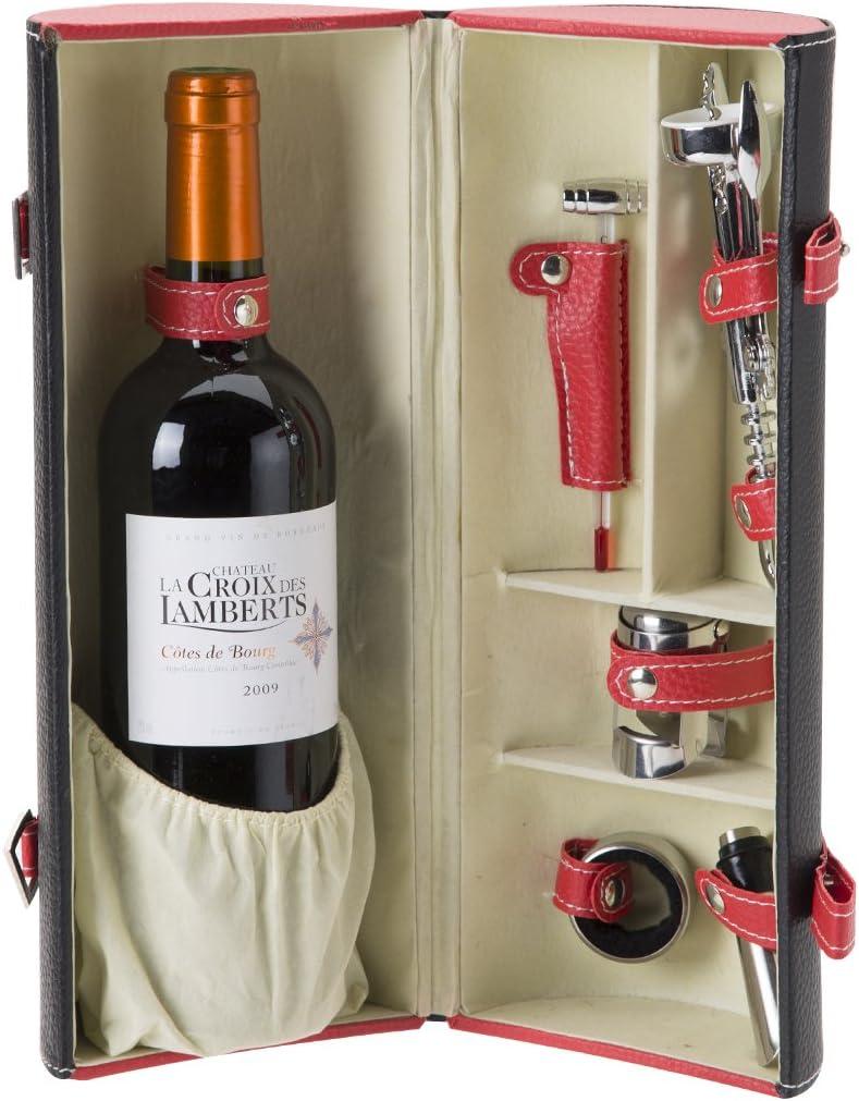 Compra Estuche de vino de skai 5 accesorios en Amazon.es