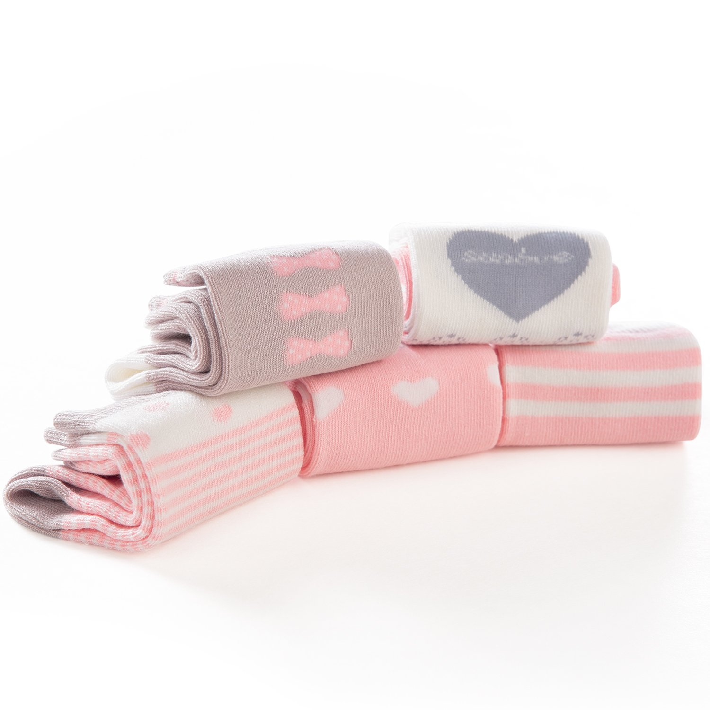 SUNBVE Little Girls' Sweet Fancy Cotton Casual Crew Socks 5 Pairs Pack by SUNBVE (Image #9)