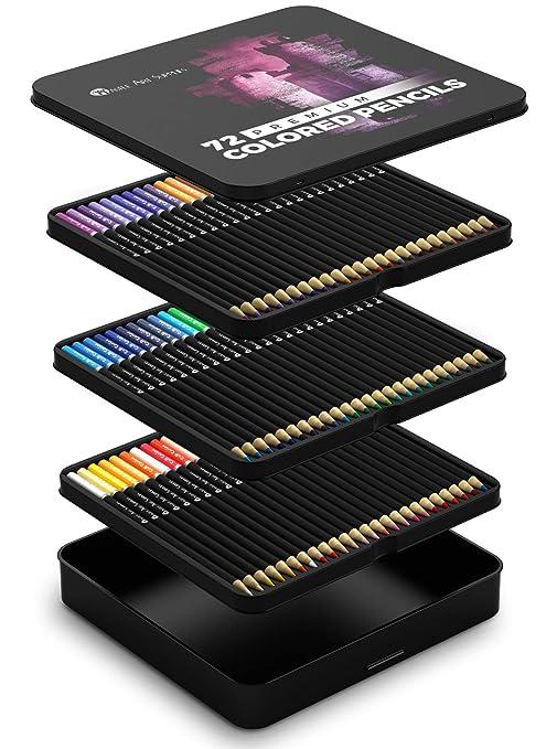 amazon com castle art supplies 72 colored pencils set for coloring
