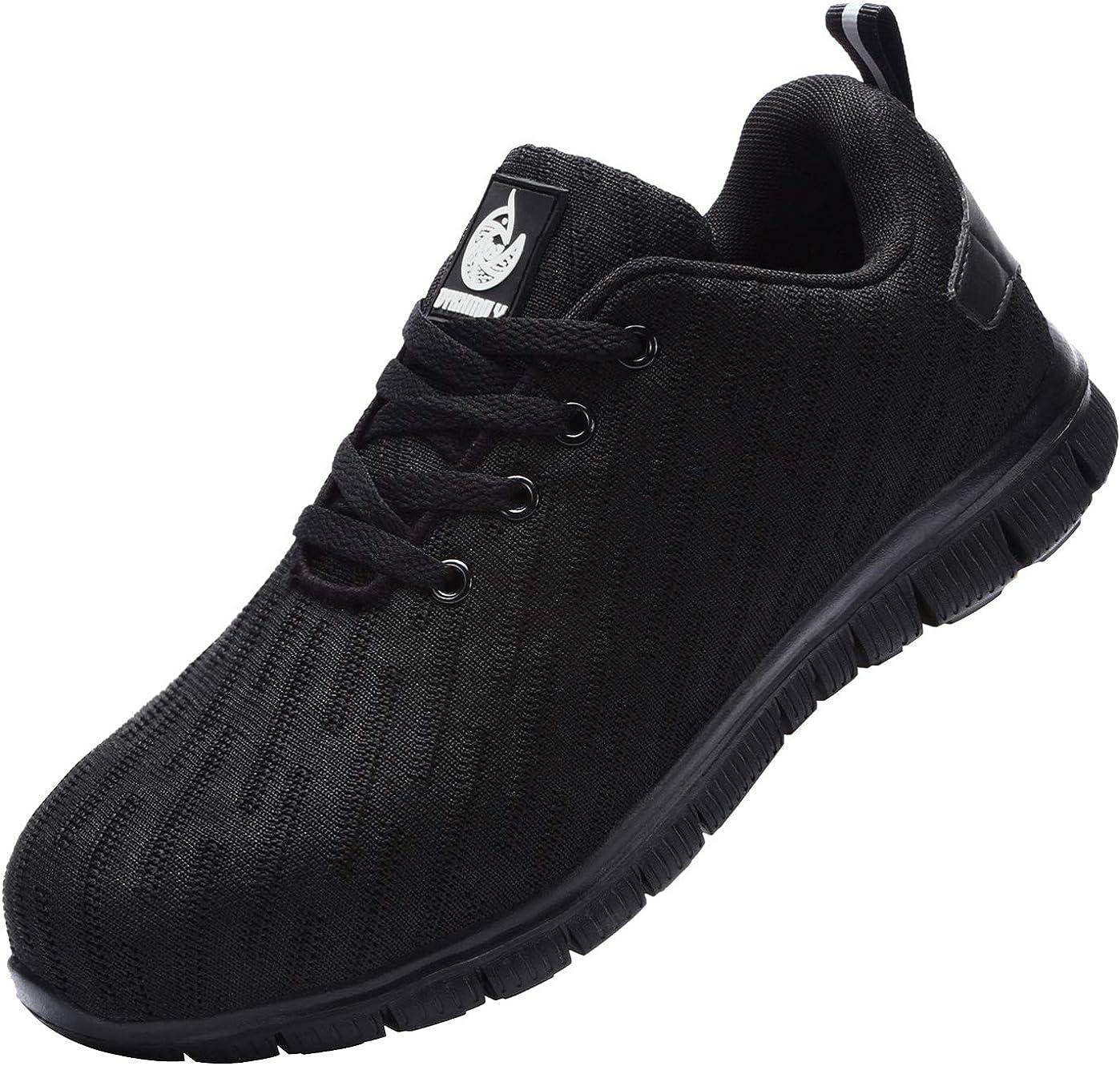 DYKHMILY Steel Toe Shoes Men Women