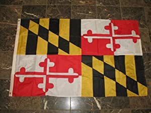3x5 Maryland MD State Embroidered Sewn 210D Nylon Flag 3'x5' Banner with Grommets