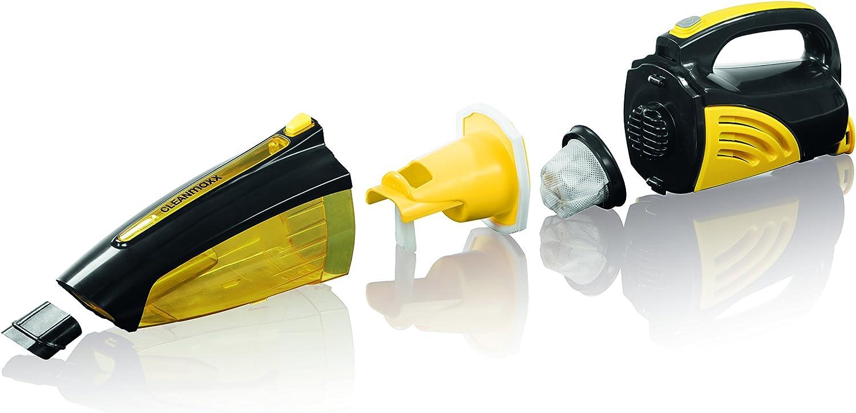 incluso Diversi adattatori cleanmaxx 00973/batteria di aspirapolvere a mano nero//giallo senza fili grazie al 7,4/V batteria Ideale anche per auto bagnato e asciutto di aspirapolvere in un