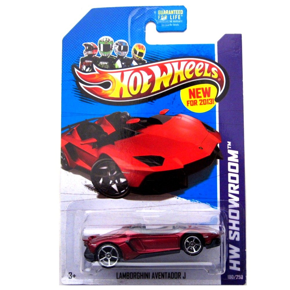 Amazon.com: Hot Wheels New For 2013 Lamborghini Aventador J Red #180/250:  Toys U0026 Games