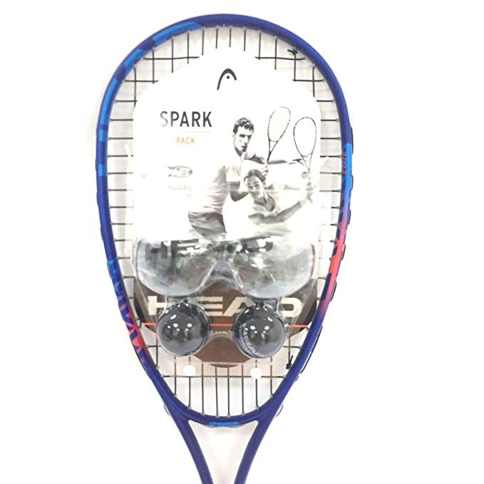 Amazon.com : HEAD Spark Elite Pack Squash Racquet Kit (Racquet, Eyeguards, 2-Balls) : Sports & Outdoors