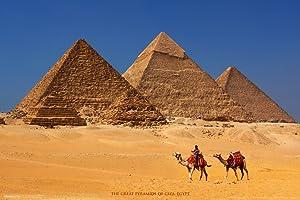 Pyramids of Giza Khufu Khafre Menkaure Egyptian Architecture Seven Wonders of World Cool Wall Decor Art Print Poster 12x18