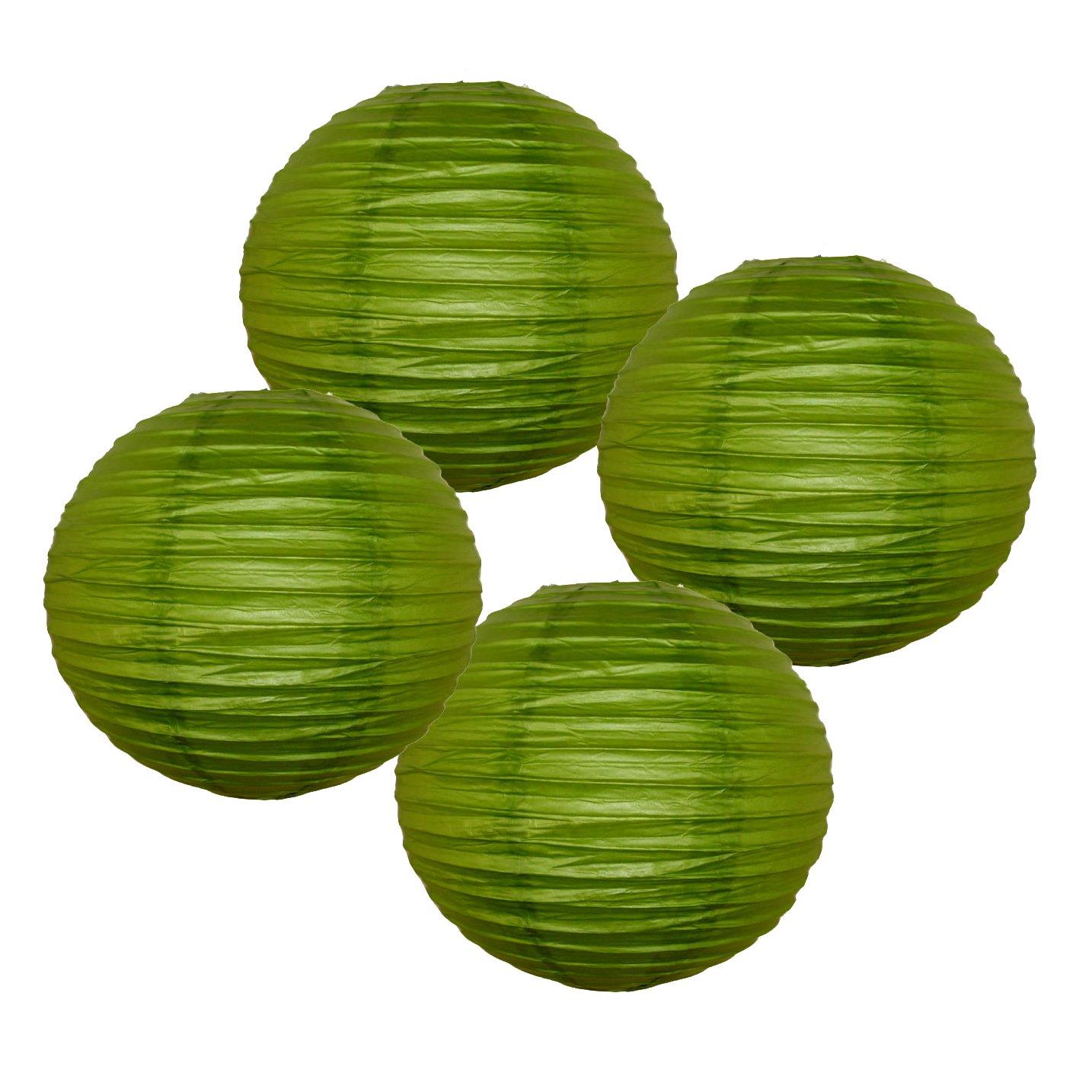 Just Artifacts 様々な紙製ランタン(色とサイズの異なる紙のランタン) 6inch AMZ-RPL4-060013 B01EGXJTW6 6inch|グラスグリーン グラスグリーン 6inch