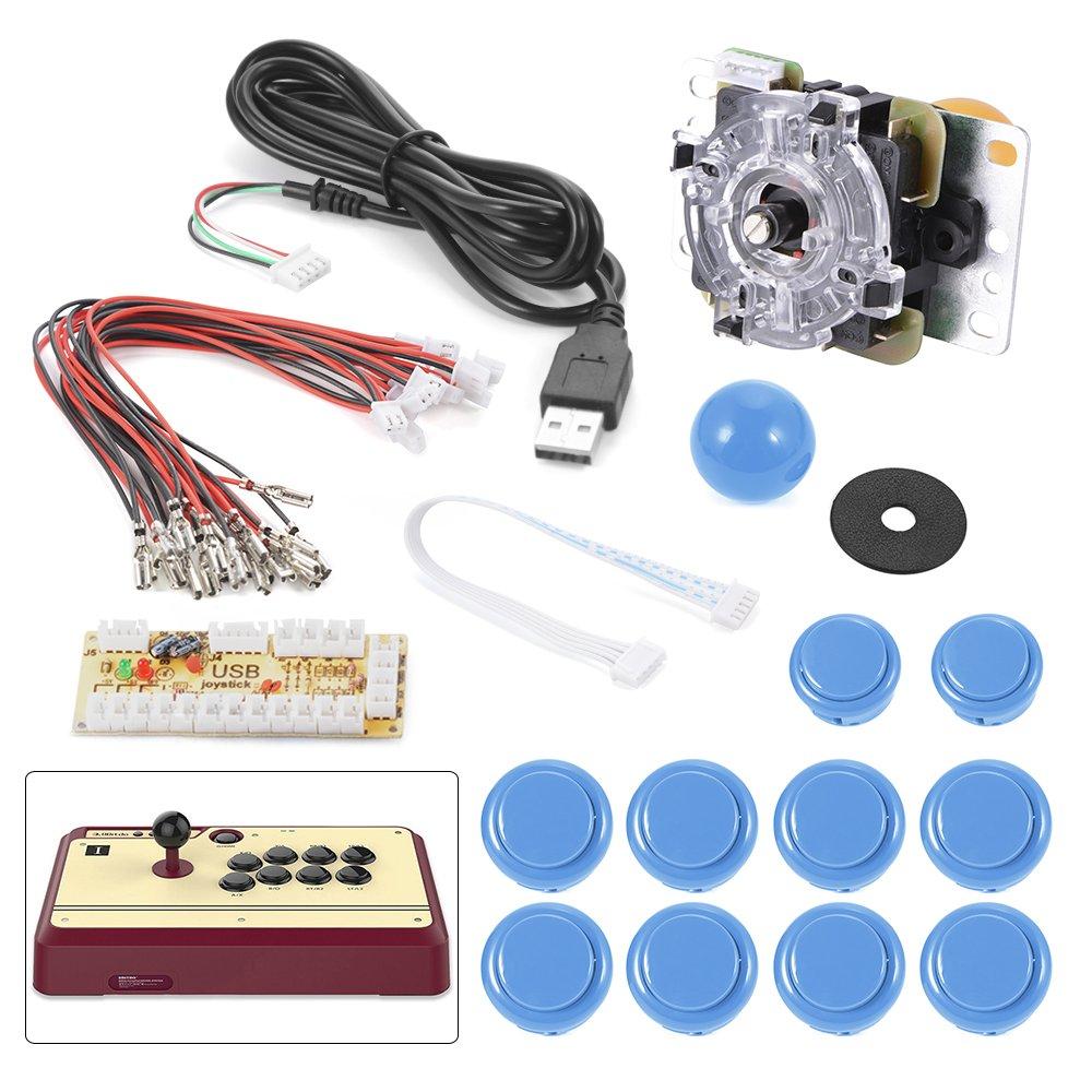 XCSOURCE® Nullverzögerungs Arcade Spiel USB Encoder PC Joystick DIY Kit für Mame Jamma & andere PC Kampfspiele AC426
