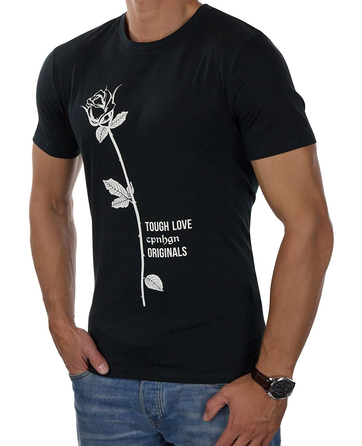 JACK & JONES Herren T-Shirt jorGRAMMER Tee Print Rose Rundhals Regular Fit:  Amazon.de: Bekleidung