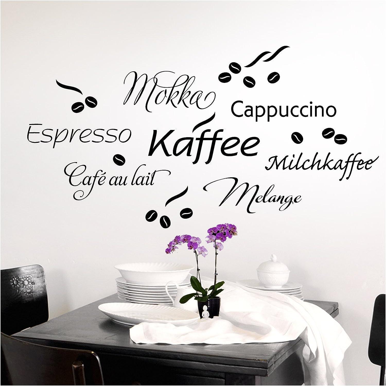 Adesivi murali bar caffetteria frase dedicata al caff/è decorazioni murali adesivi adatti anche per la cucina