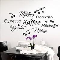 Grandora Muursticker Koffie Koffie Cup I Taupe I Keuken Eetkamer Zelfklevende Sticker Koffiebonen Muursticker…