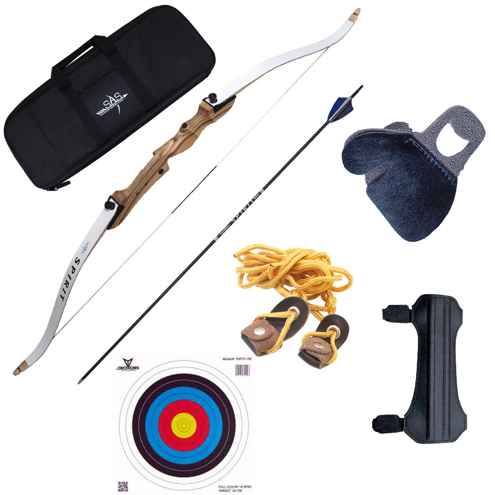 Southland Archery Supply SAS Spirit 62'' Beginner Bow Set (28 lbs) by Southland Archery Supply