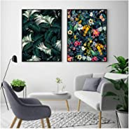 ONEAM Classic Palm Leaves Poster Tropical Jungle Green Canvas Print Nordic Garden Canvas Painting Wall Pictures para Sala de