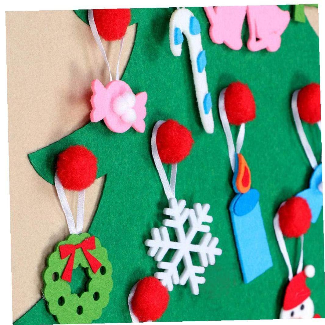 Albero Di Natale In Tessuto Calendario DellAvvento Natale Calendario DellAvvento Christmas Countdown Calendar Albero Di Natale Calendari Per Le Decorazioni Domestiche