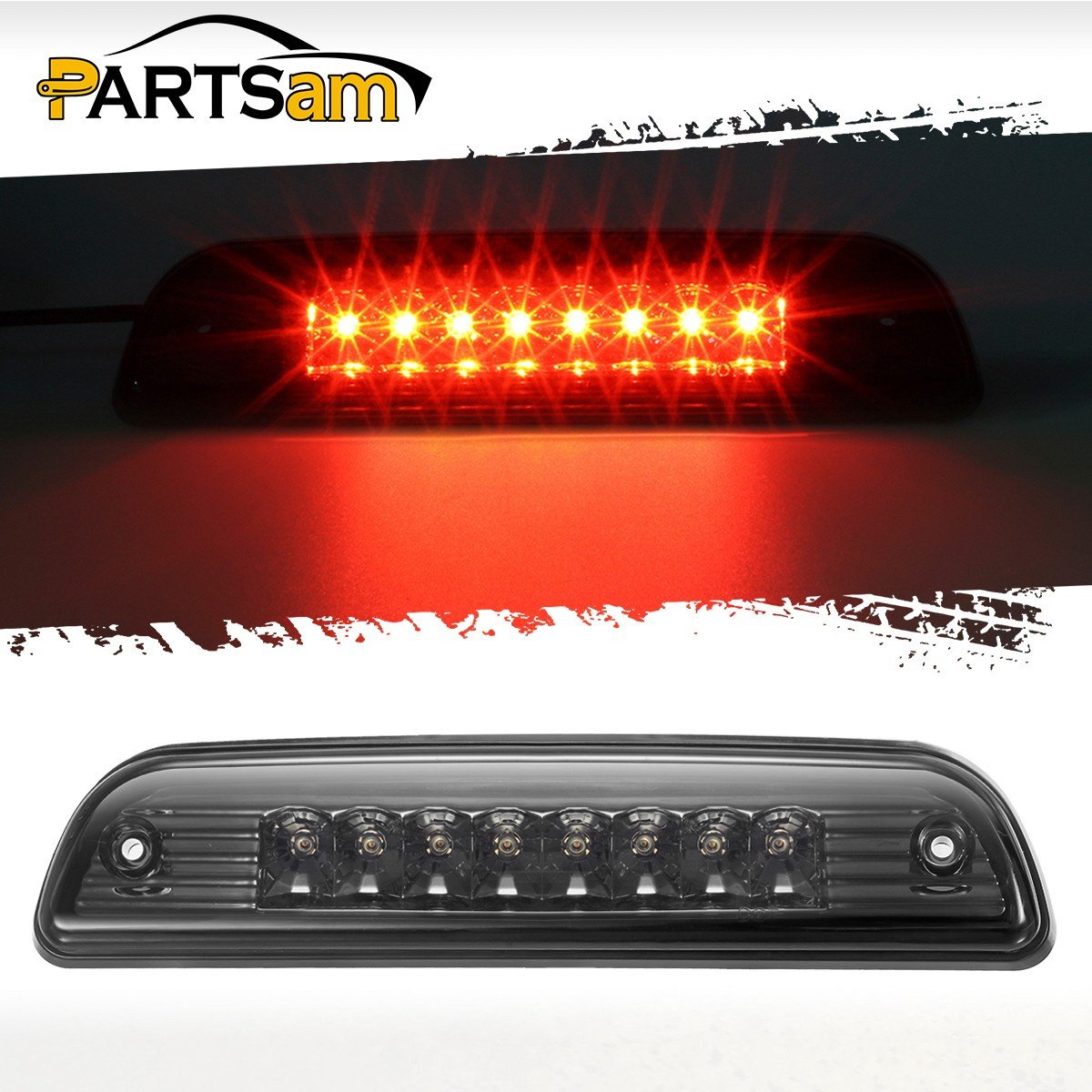 Red Center Hight Mount Stop Light Third 3rd Brake//Reverse LED Lights Lamp Replacement for 1995-2016 Toyota Tacoma Cargo Lights