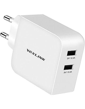 4d5bf4f8280 VOXLINK 2 Puertos USB Portátil Cargador Móvil, Cargador de Pared de Red 24W  4.8A