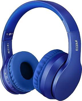 Oferta amazon: Ifecco Bluetooth Estéreo Auriculares Música Sobre-oído Sonido de alta fidelidad, Bluetooth Banda para la cabeza plegable con micrófono y cable de audio para Apple iPhone, PC(azul)
