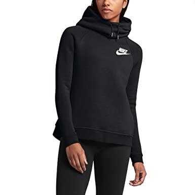 8fefe82ccc78 Nike Women s Rally Funnel Neck Black Sweatshirt Hoodie - Black - Large