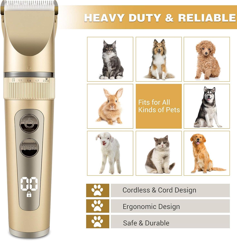 Lok Envy Tosatrice per Cani Professionale Kit Toelettatura Cani Gatti Animali Tosatore per Cani Pelo Lungo