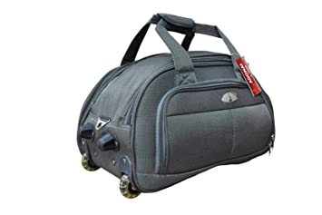 ADONAI Nylon 20-inch Grey Duffle Bag Trolley with Transparent PVC ... b60ffe1e5c
