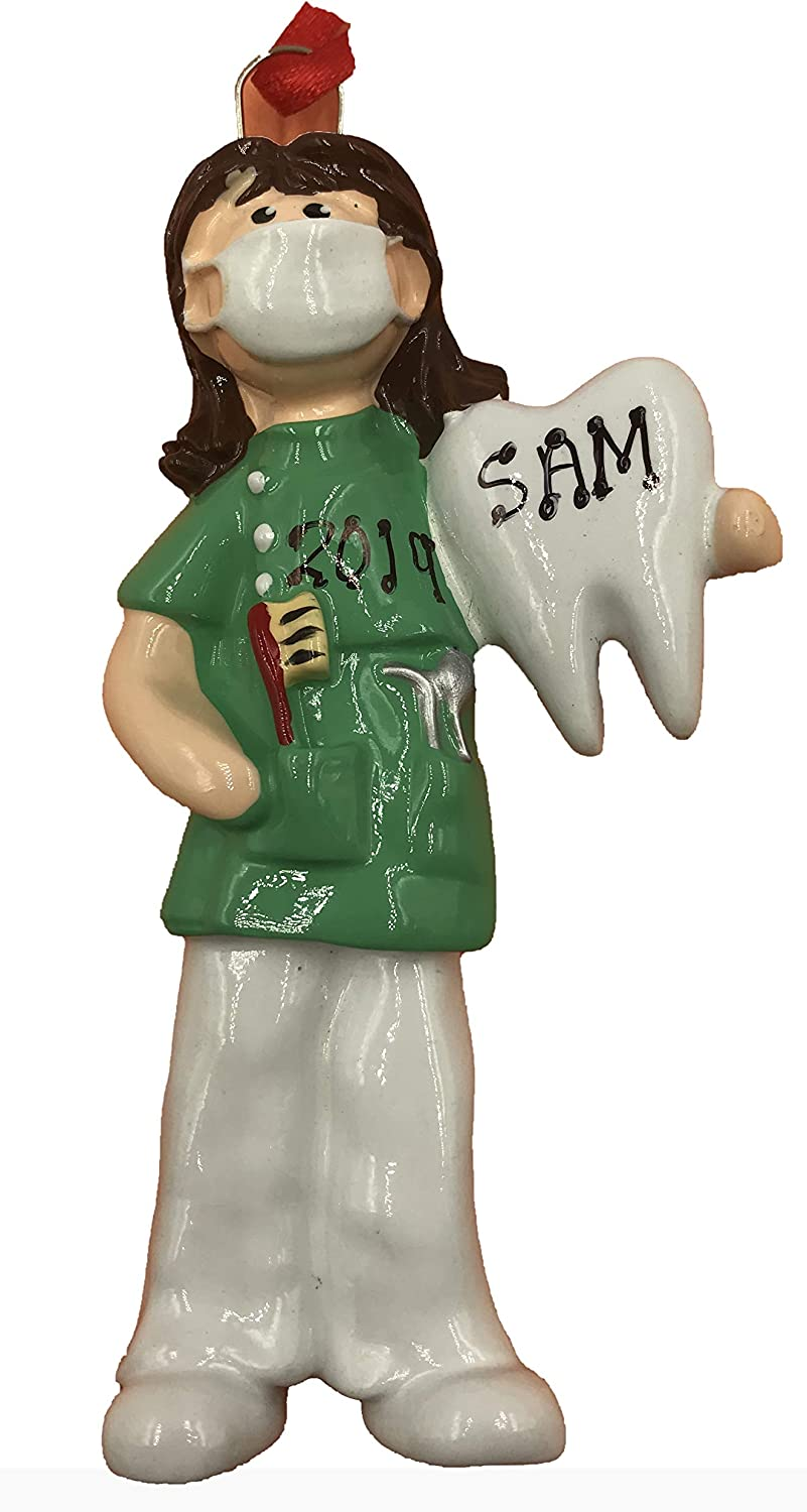 Personalized Dentist Female Christmas Ornament 2020