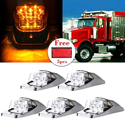 Amazon com: cciyu Top Roof Marker Lights 5 Pack Clear 7LED
