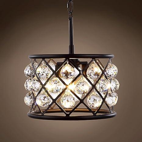 Amazon.com: Lámpara de techo con 3 focos de rejilla de ...