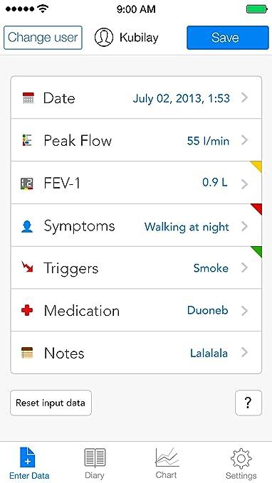Amazon Quest Asthmamd Lung Performance Peak Flow Meter Health