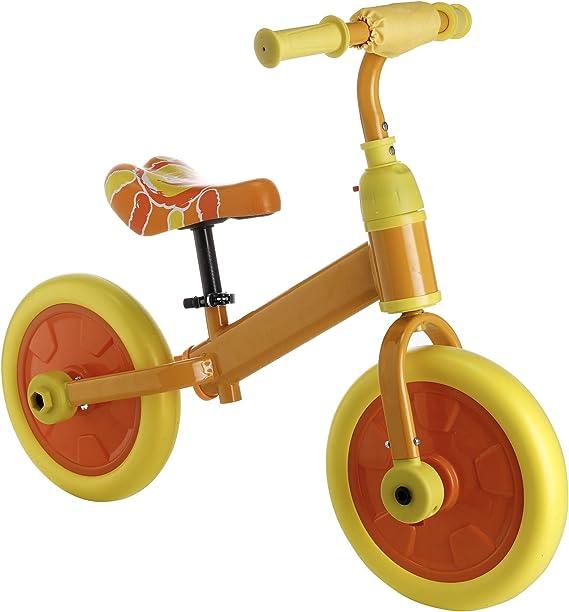 Sfeomi Bicicleta de Equilibrio para Ni/ños 12 Pulgadas Bici para Ni/ños con Pedales Desmontables Bicicleta de Equilibrio Infantil con Rueda Auxiliar