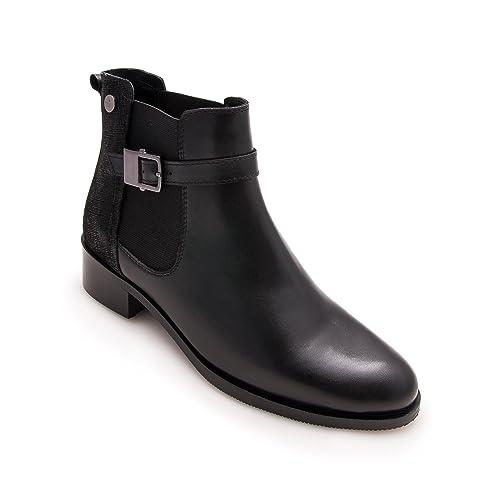 Zerimar Botines de Piel | Botines Invierno | Botines Mujer Tacon Medio | Botines Cuero Mujer: Amazon.es: Zapatos y complementos