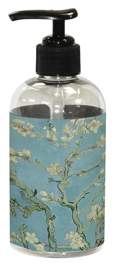 Apple Blossoms (Van Gogh) plástico jabón/dispensador de loción, plástico, azul