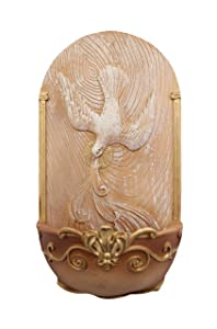 CB The Trinity Dove Holy Spirit Holy Water Font