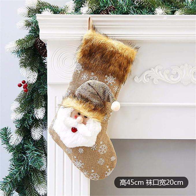 SAOGA Navidad Grandes Calcetines de Navidad Viejo Hombre Muñeco de Nieve Bolsa de Regalo Niño Paz Fruta Caja Dulce Apple Bolsa, 22: Amazon.es: Deportes y ...