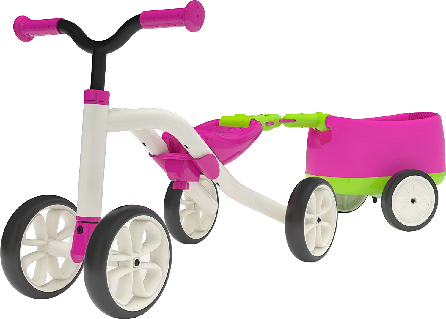 Chillafish QUADIE + TRAILIE: 4-Wheeler Grow-with-Me Ride-On Quad and Trailer Combo, Pink CPQT01PIN