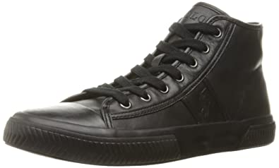 Ralph Lauren Sneakers Hanford Black Mono Leather