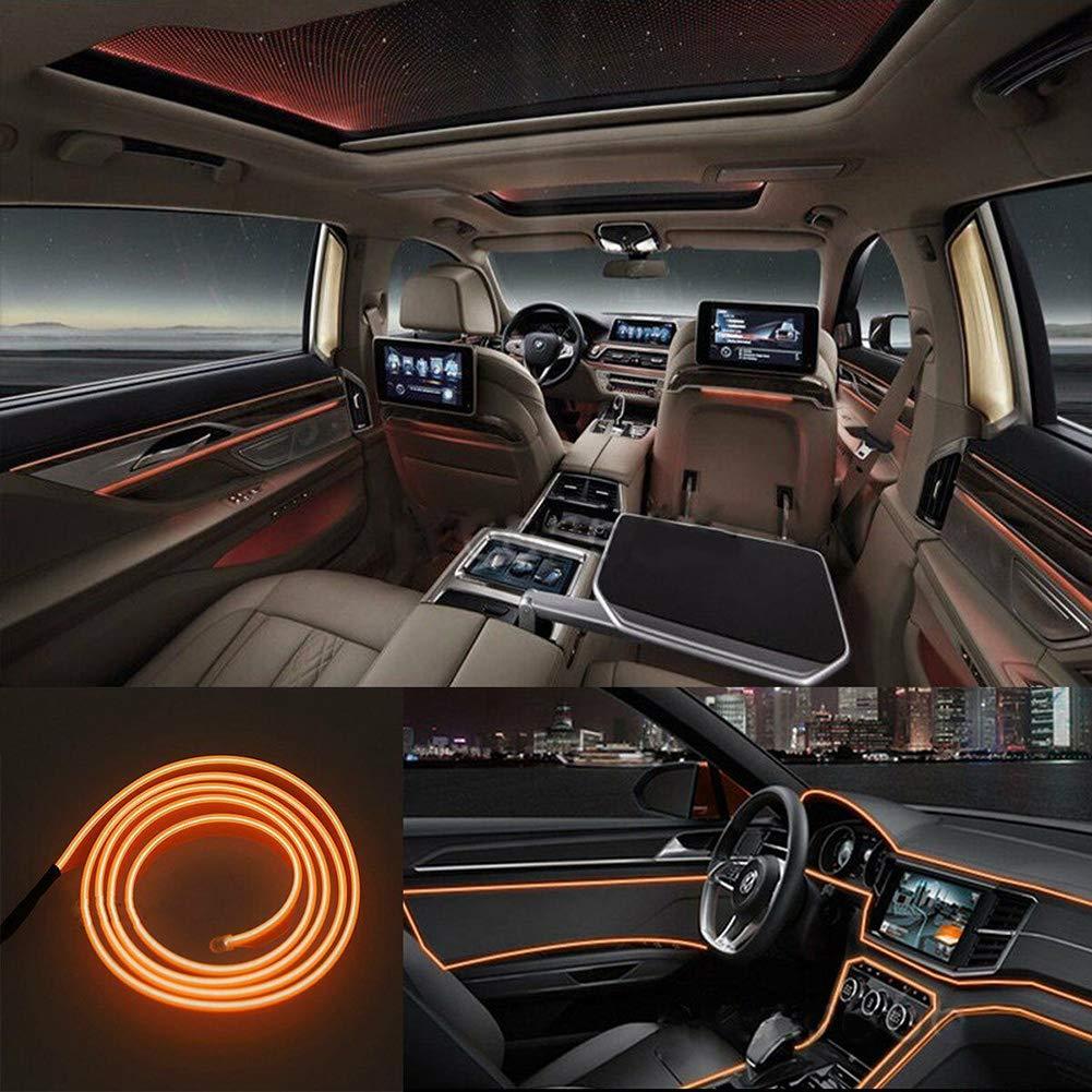 ggaggaa Tira de luces LED para coche de 4M Decoraci/ón de luz ambiental interior Ambiente L/ámpara de fibra /óptica Luz de puerta