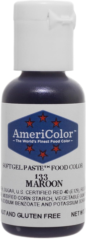 Americolor Soft Gel Paste Food Color.75-Ounce, Maroon