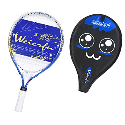 "weierfu Junior Tennis Racket for Kids Toddlers Starter Racket 19"" with Cover Bag Light Weight"