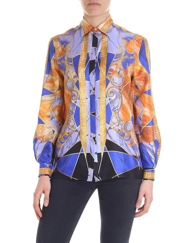 3dc78b014a Versace Collection Women's G35372G604562G7142 Purple Silk Shirt ...