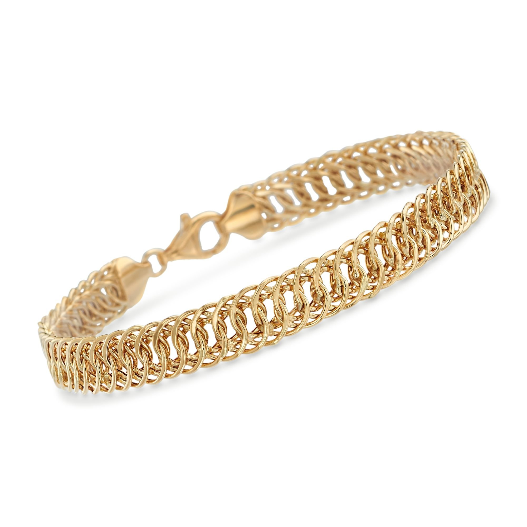 Ross-Simons 18kt Yellow Gold Interlocking Oval Link Bracelet