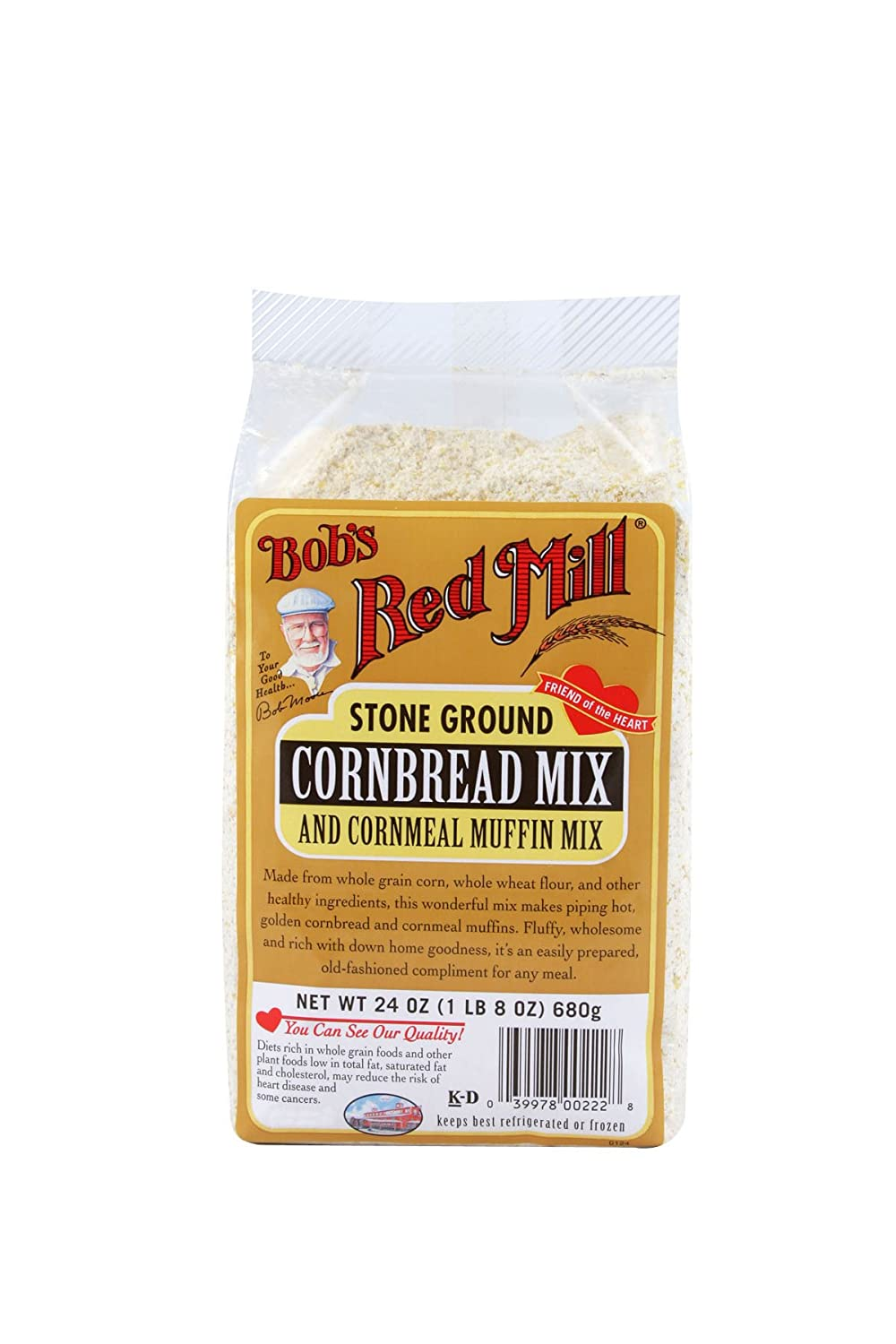 Bob's Red Mill Cornbread & Cornmeal Muffin Mix, 24-ounce