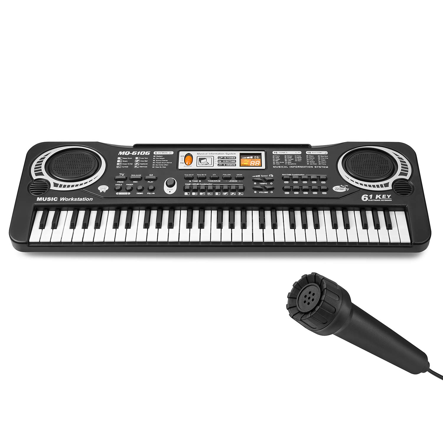 Lonian Kids Piano Keyboard 61 Keys, Piano Keyboard Toy Electronic Organ Musical Instrument Piano for Kids, Son, Daughter, Grandson, Granddaughter by Lonian