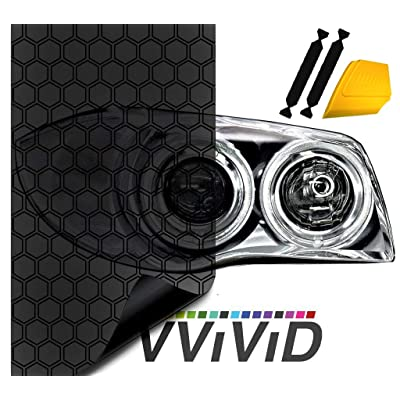 "VViViD Hex+ Dark Smoke High Gloss Air-Tint Headlight (16"" x 60"" (w/Toolkit)): Automotive"