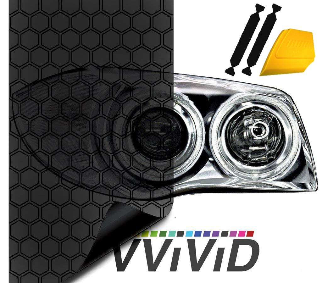 17.9 x 60 Dark Smoke High Gloss Air-Tint Headlight VViViD Hex