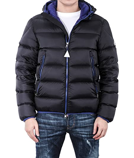 Wiberlux Moncler Chauvon Men's Padded Zip-Front Jacket With Hood Size 0 Navy