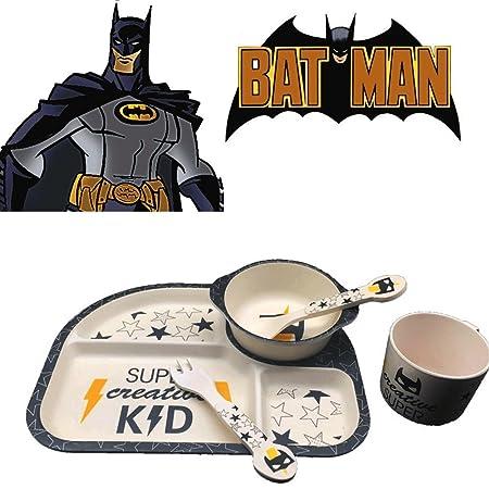 Bamboo Fiber Kids Dinnerware Set Batman Hero 5 Pieces Dinnerware Set Kids Kitchen  sc 1 st  Amazon UK & Bamboo Fiber Kids Dinnerware Set Batman Hero 5 Pieces Dinnerware ...