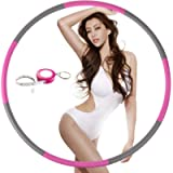 Exercise Hoop for Adults, Weighted Fitness Hoop for Exercise-2lb, 8 Section Detachable Design-Professional Soft Workout…