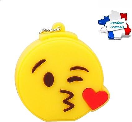 Cle Usb Emoji Smiley Bisous Coeur Capacite 16go Livraison Gratuite Et Rapide 2 A 3 Jours Entreprise Francaise Tapez Cleusbenfolie Dans La Barre De Recherche Pour Plus De Cles Usb Originales Amazon Fr Informatique