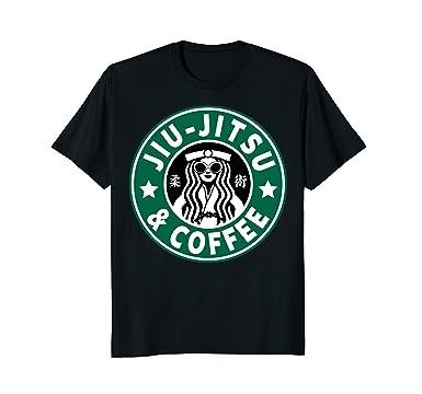 50d3d54c Image Unavailable. Image not available for. Color: Mens JIU JITSU T SHIRT, JIU  JITSU AND COFFEE, BJJ & MMA SHIRT,