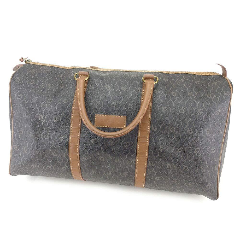 (ディオール) Christian Dior ボストンバッグ 旅行用バッグ ブラック ブラウン ヴィンテージディオール レディース メンズ 中古 T8510 B07JD79FJ5